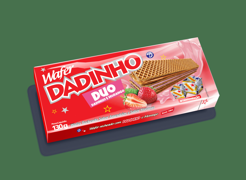 Wafer Dadinho DUO Morango